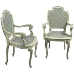 Pair of Early 20th Century Painted Armchairs