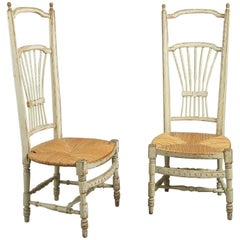Pair of French Painted Chairs