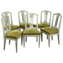 Set of Six 18th Century Dutch Painted Chairs
