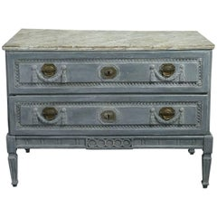 18th Century Louis XVI Provincial Painted Commode