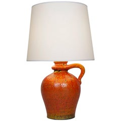 20th Century Corail Ceramic Table Lamp by André Freymond