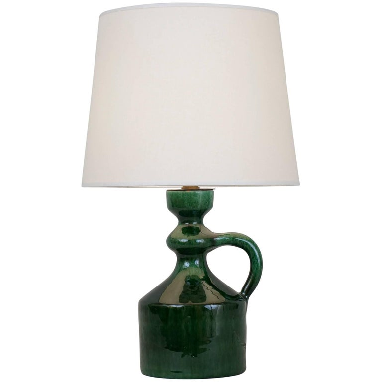 Late 20th century green ceramic table lamp by andr freymond for late 20th century green ceramic table lamp by andr freymond for sale aloadofball Images