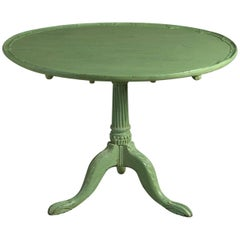 18th Century Late George II Green Painted Tripod Table