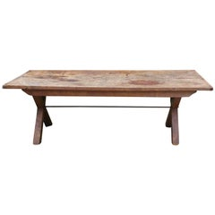 18th Century Georgian Sycamore & Elm Antique Vernacular Refectory Dining Table