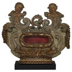 Unique 17th Century Italian Baroque Reliquary with Angels