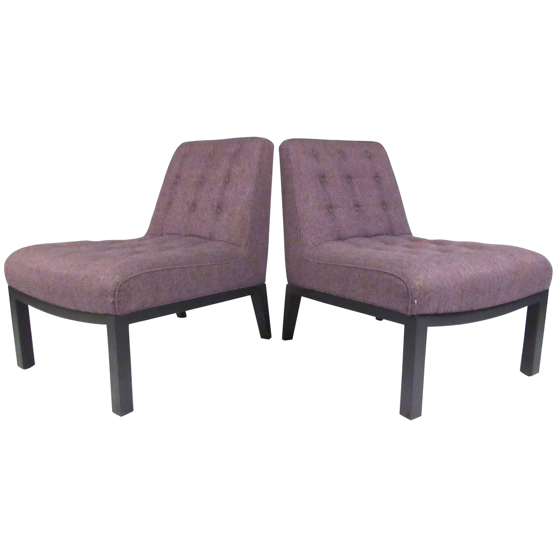 Vintage Edward Wormley Slipper Chairs for Dunbar