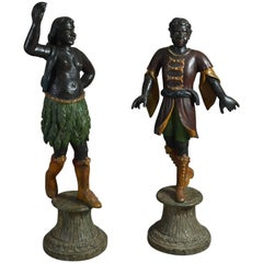 Pair of 18th Century, Italian Blackamoor Figures