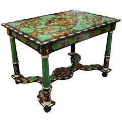 Gorgeous Table, Marquetry of Diverses Precious Wood