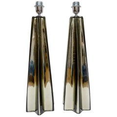 Pair of Table Lamps in Murano Glass