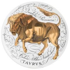 Piero Fornasetti porcelain horoscope plate Taurus, Italy 1968