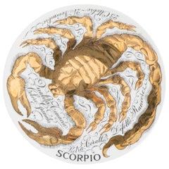Piero Fornasetti porcelain horoscope plate Scorpio, Italy 1967