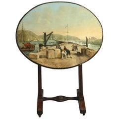 Unusual Painted Tilt-Top Table
