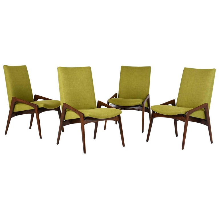 Set of Four Dining Chairs by Kai Kristiansen For Sale