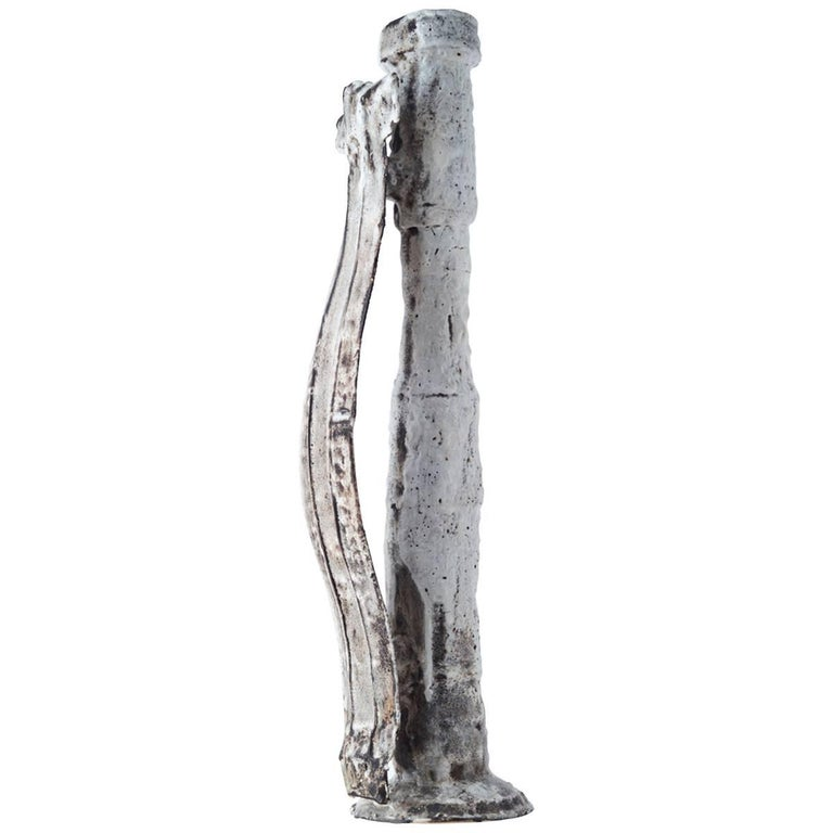 Tall Sculptural Ceramic Jug by Colin Gory