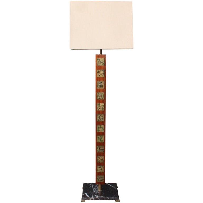 Vintage Zodiac Floor Lamp For Sale At 1stdibs