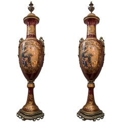 Louis XV Style Porcelain and Bronze Vases