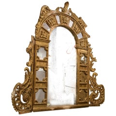 Rare 18th Century Retable Mirror