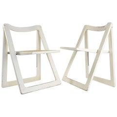 Three Mid-Century Modern Folding Chairs, circa 1960