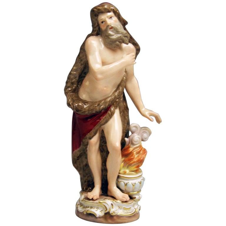 Meissen Winter Season's Figurine C 83 Kaendler Kändler Johann Joachim Made 1880