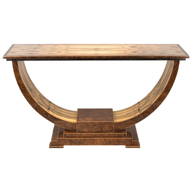 White Ebony Excelsior Console Table For Sale