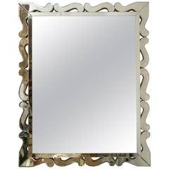 Art Deco Scalloped Mirrored Mirror