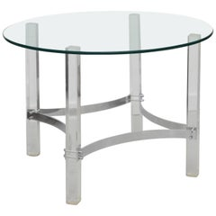 Vintage Alessandro Albrizzi Lucite and Chrome Side Table