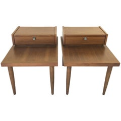 Mid-Century Modern American of Martinsville Nightstands, a Pair