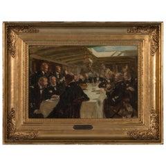 Impressionist Antique Oil Painting by Erik Henningsen on Artist's Board