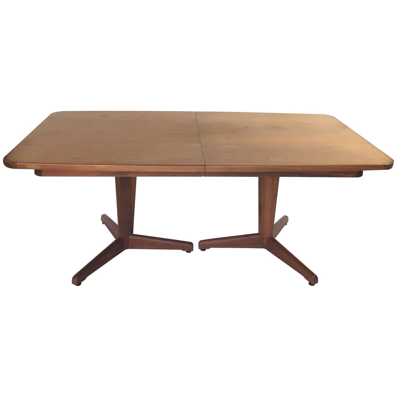 John Keal for Brown Saltman Dining Table with Two Leaves at 1stdibs