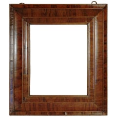 Extraordinary 17th Century, Frame Mounted as Mirror, Nutwood Veneer, Spectacular