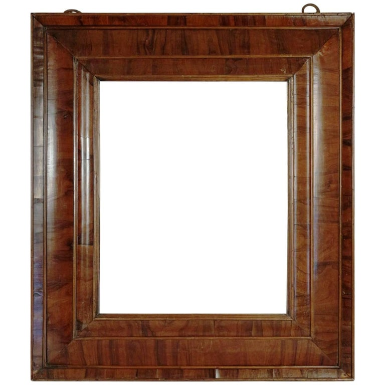 Extraordinary 17th Century, Frame Mounted as Mirror, Nutwood Veneer, Spectacular For Sale
