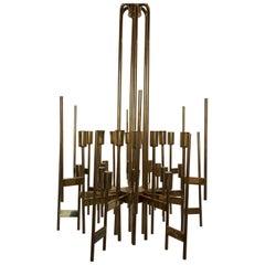 Italian Brass Twenty-Four-Arm Chandelier