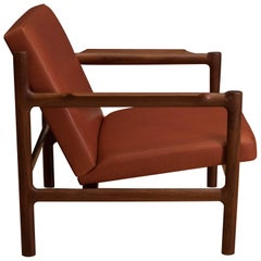 Mid Century Teak and Leather Lounge Chair by Bruksbo