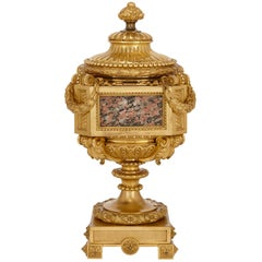 Neoclassical Style Marble Mounted Ormolu Antique Vase Attributed to Picard