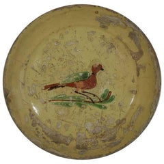 Early 19th Century French Serving Platter with a Bird