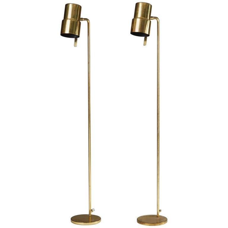Pair of Floor Lamps Designed by Hans-Agne Jakobsson, Sweden, 1960s
