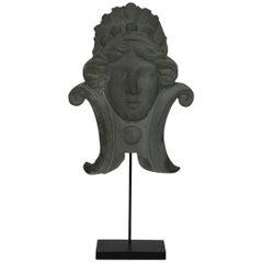 French 19th Century, Zinc Head Ornament