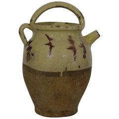 19th Century, French Terracotta Jug/Water Cruche
