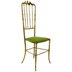 Brass Chiavari Chair, 1950s, Italy