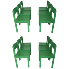Green Dining Room Chairs by Carl Auböck, 1956, Austria