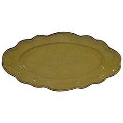 Large French 19th Century, Glazed Earthenware Serving Platter