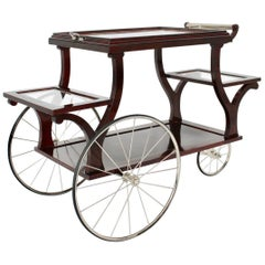 Jugendstil Bar Cart in the Style of Adolf Loos, circa 1902, Vienna
