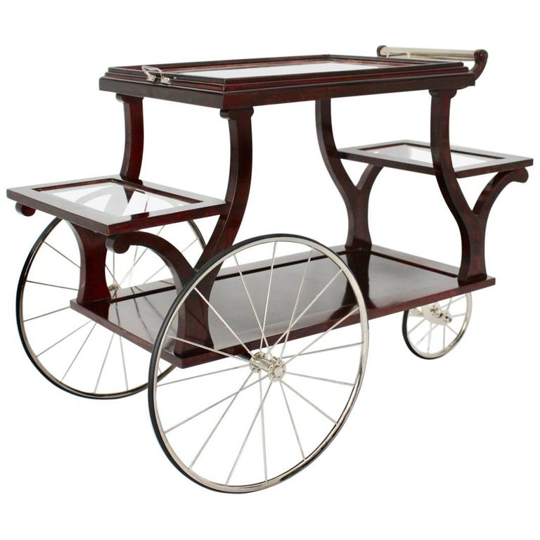 Jugendstil Bar Cart in the Style of Adolf Loos, circa 1902, Vienna For Sale