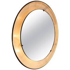 Circular Round Mirror by Stilnovo, Italy, circa 1950s