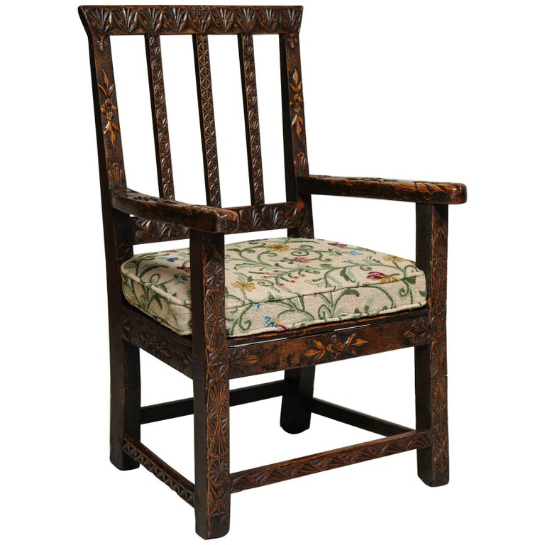 18th Century English Folk Art Chair 1