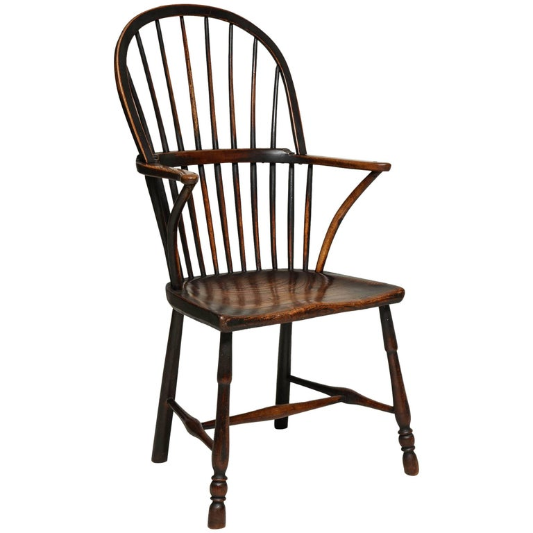 English Hoop Back Windsor Armchair For