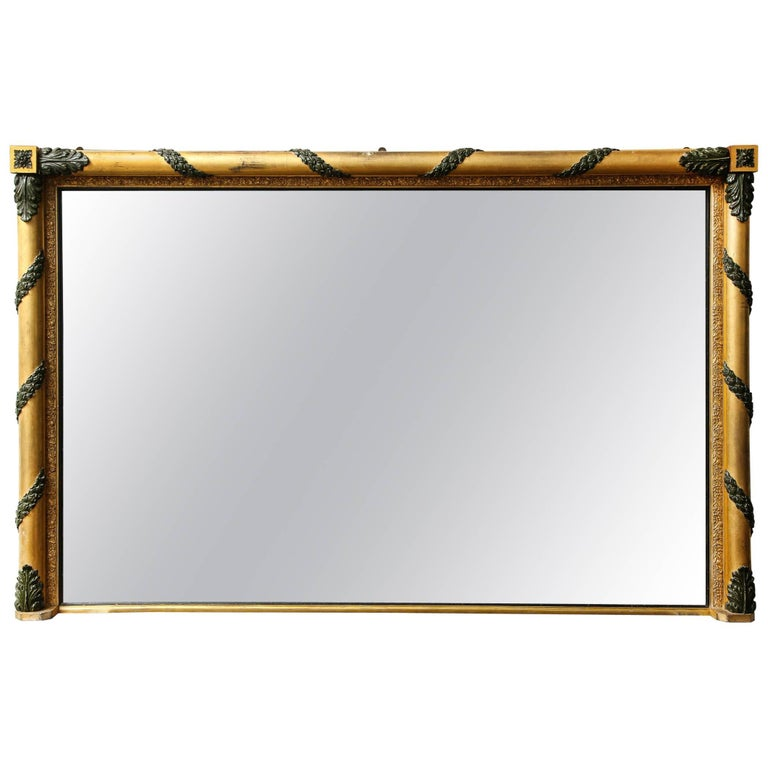 Massive Regency Overmantel Mirror 1