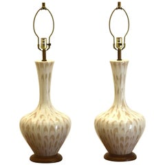 Large Pair of Ceramic Table Lamps by Phil-Mar Sandel