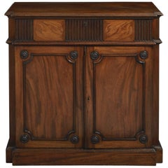 Rare 18th Century George III Carved Mahogany Secretaire Side Cabinet