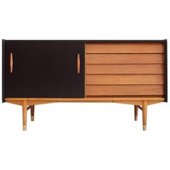 Hugo Troeds Teak and Black Laminate Sideboard, 1957